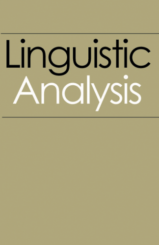 essays on linguistic analysis The genre of this novel is prose and fictional this is shown in the opening chapter through the old english used and also the description of the surroundings.