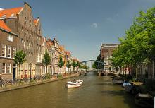 The Old Rhine River in Leiden
